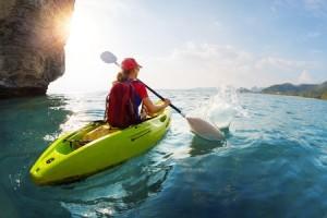38095521 - woman on the kayak