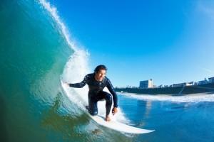11945918 - surfer on blue ocean wave